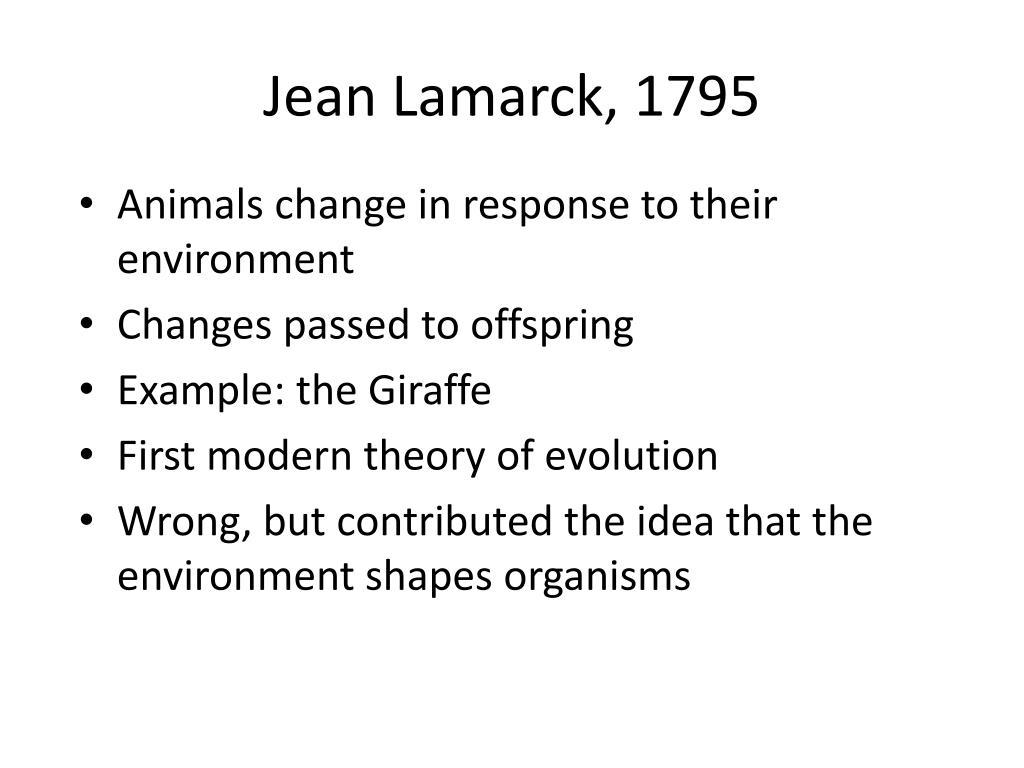 Jean Lamarck, 1795