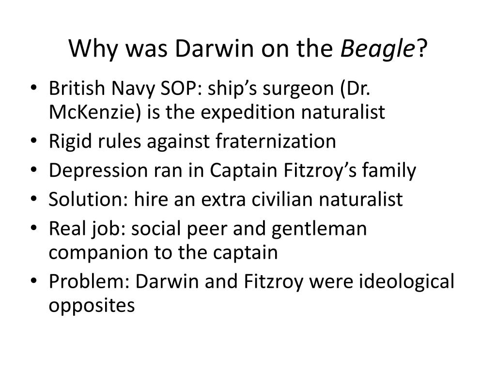 Why was Darwin on the