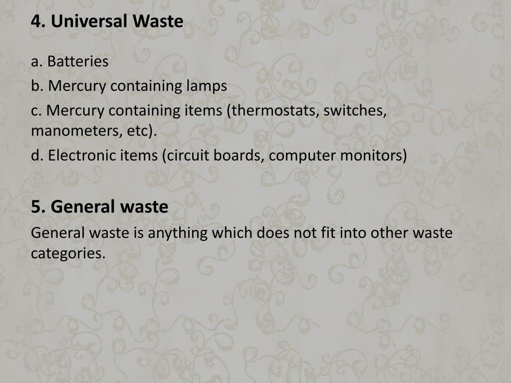 4. Universal Waste
