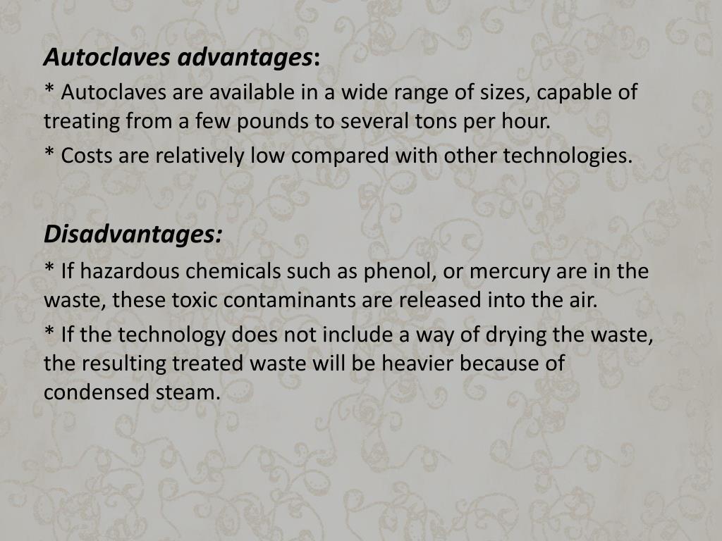 Autoclaves advantages