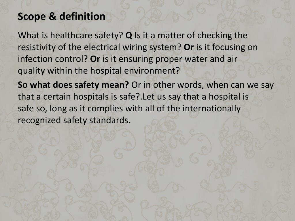 Scope & definition