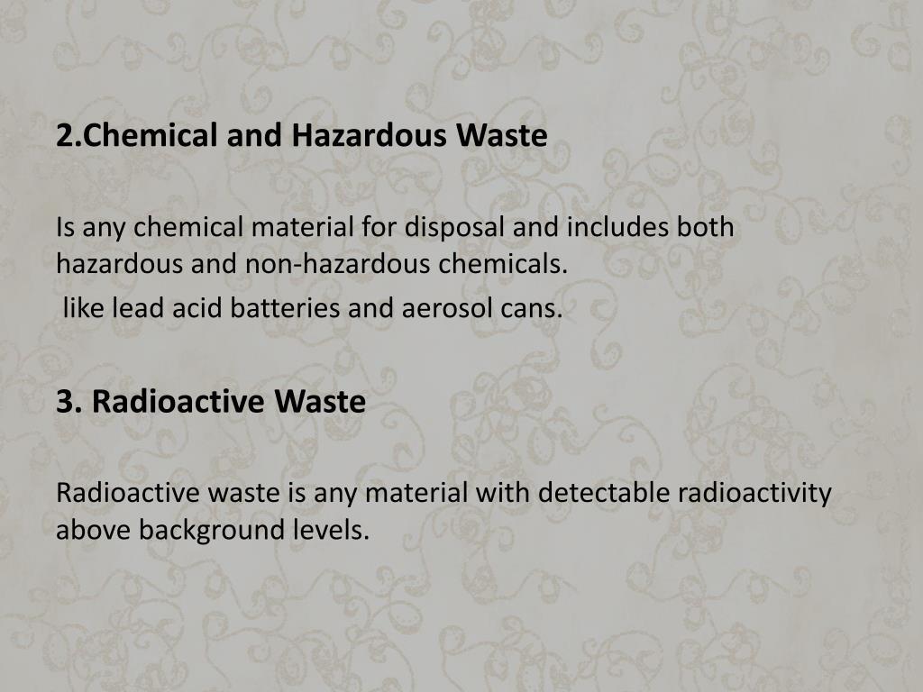 2.Chemical and Hazardous Waste