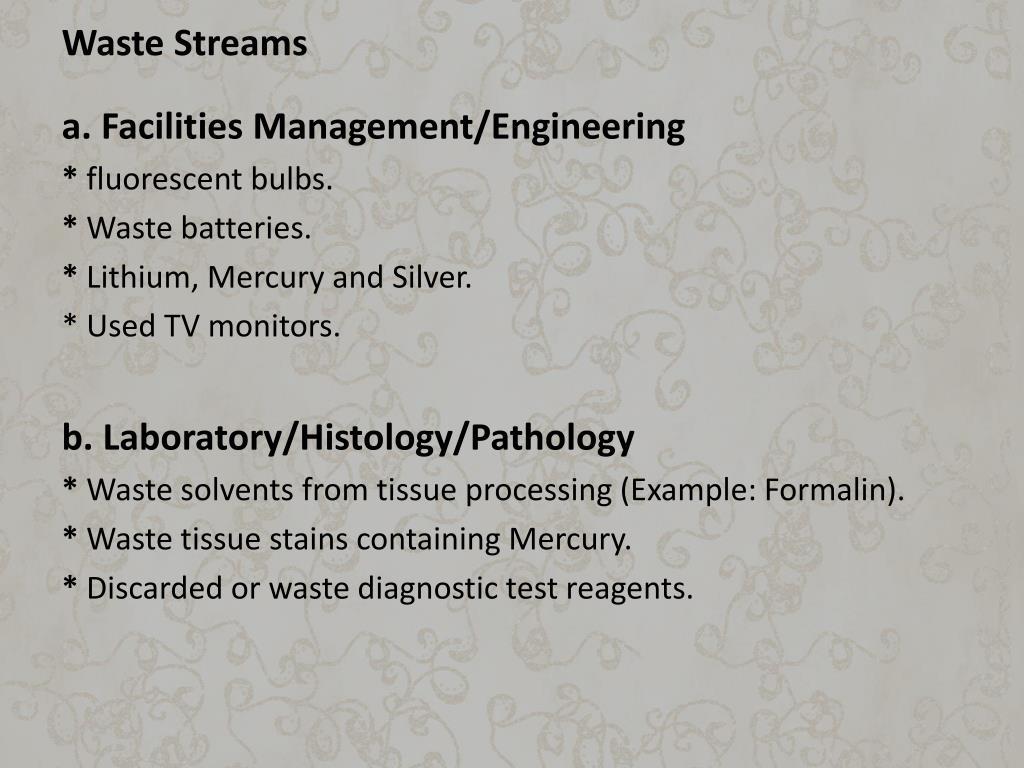 Waste Streams