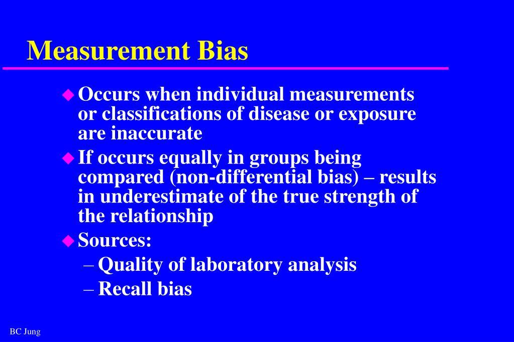 Measurement Bias