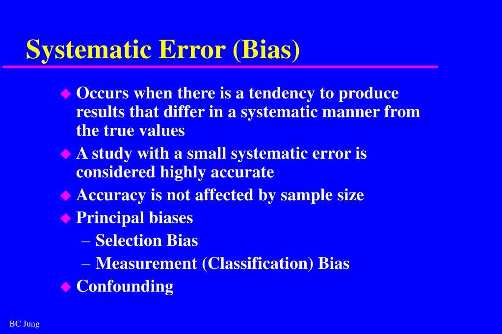 Systematic Error (Bias)