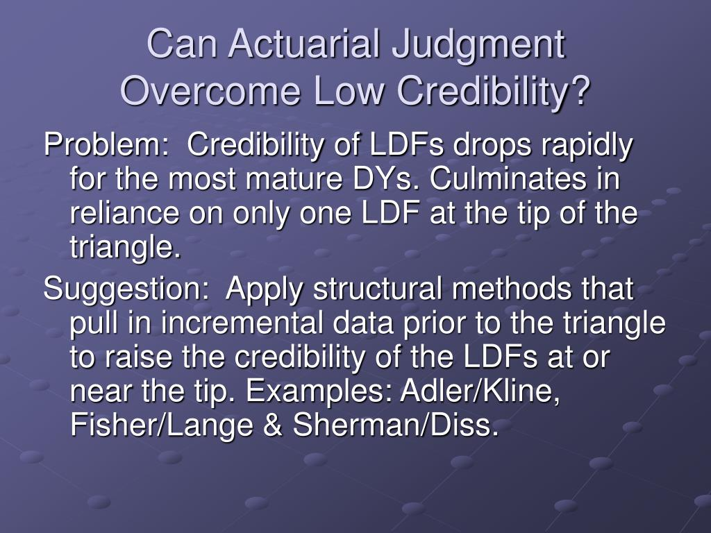 Can Actuarial Judgment