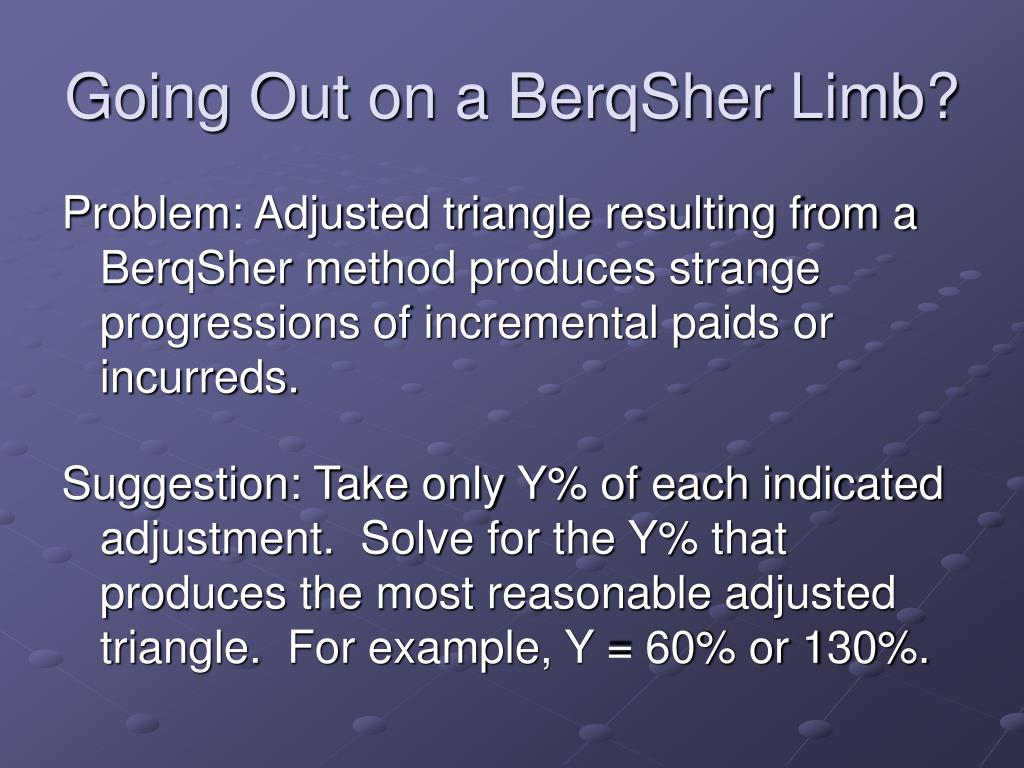 Going Out on a BerqSher Limb?