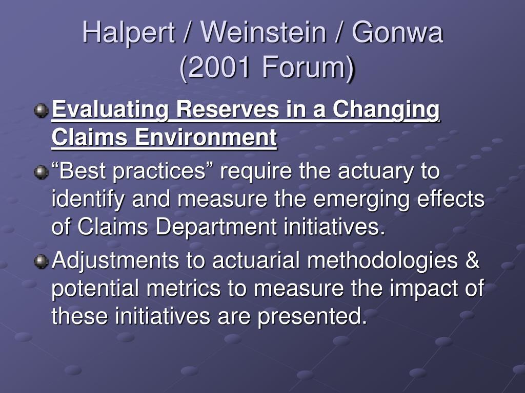 Halpert / Weinstein / Gonwa