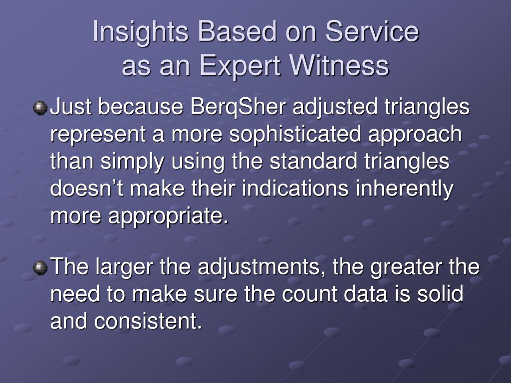 Insights Based on Service
