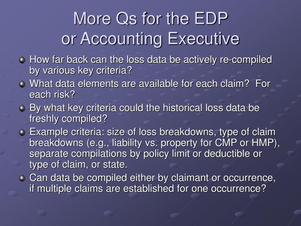 More Qs for the EDP