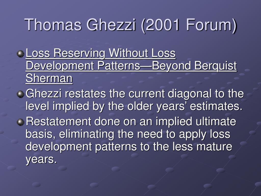 Thomas Ghezzi (2001 Forum)