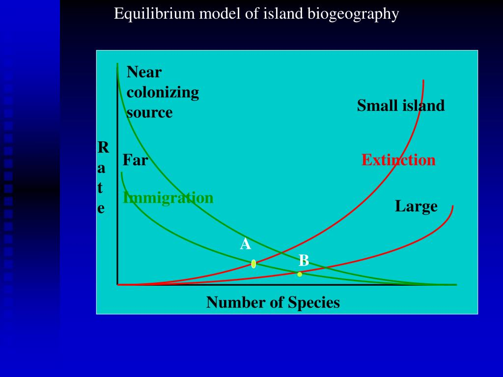 biogeographical models of species area relationship graph