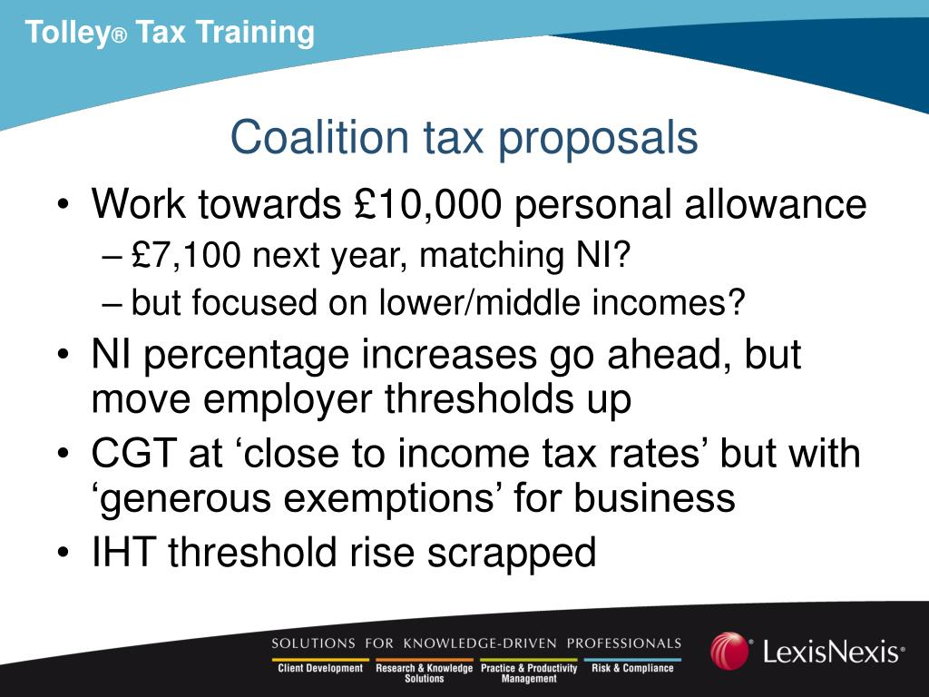 Coalition tax proposals