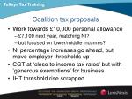 coalition tax proposals