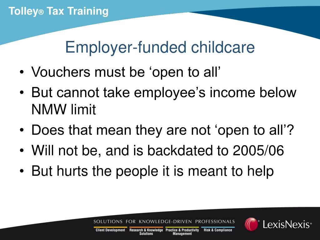 Employer-funded childcare