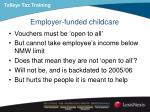 employer funded childcare