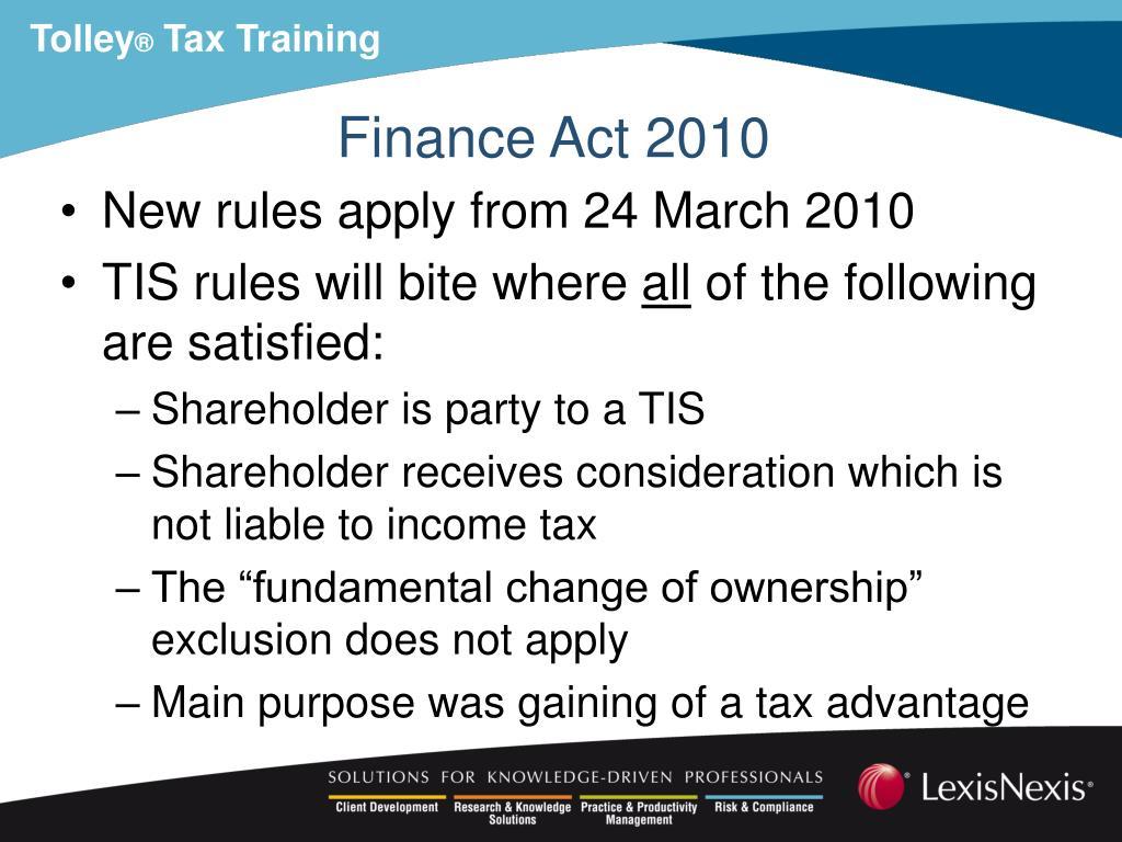 Finance Act 2010