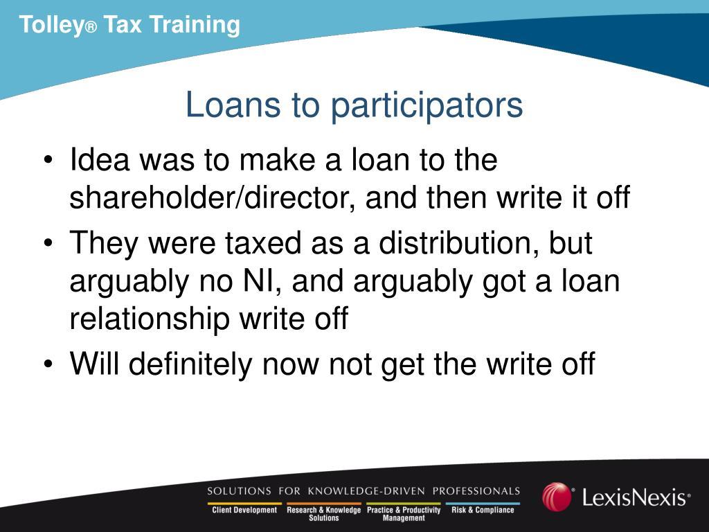 Loans to participators