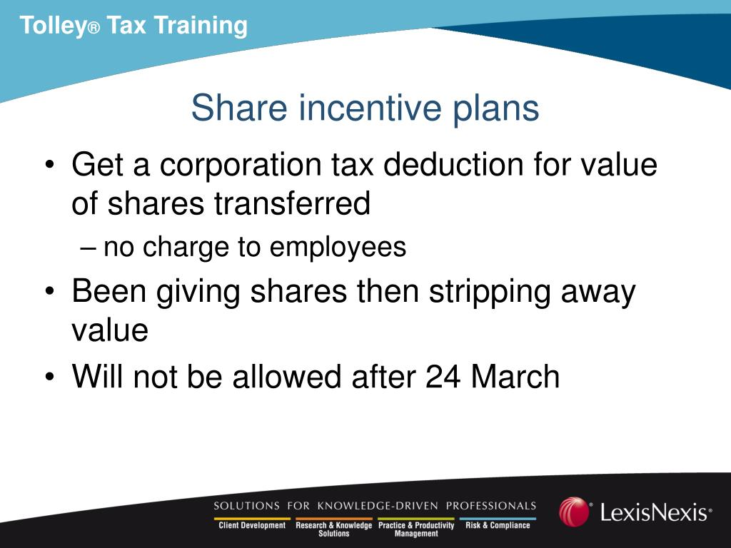 Share incentive plans