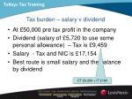 tax burden salary v dividend