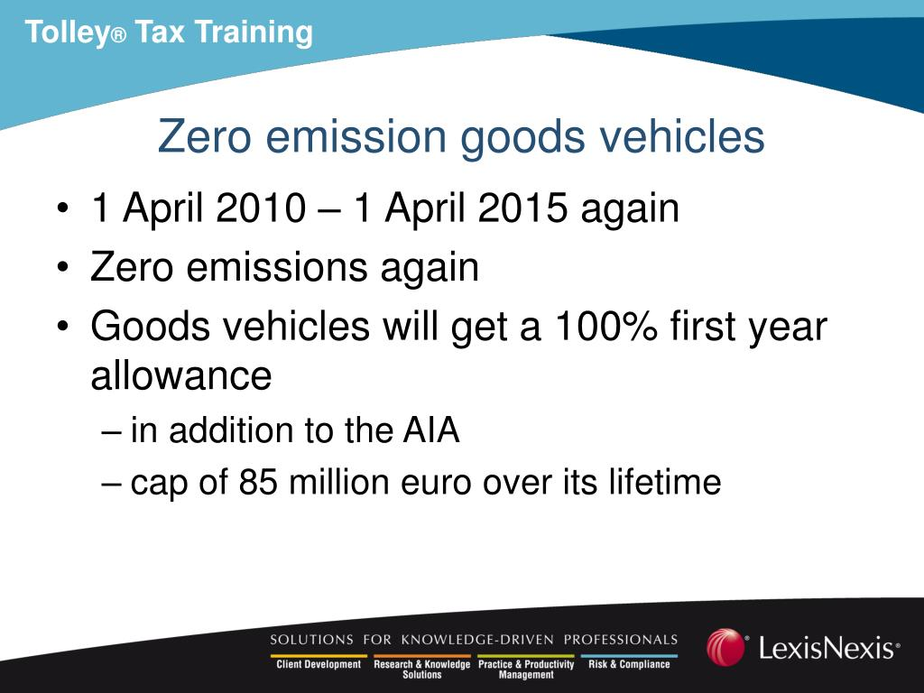 Zero emission goods vehicles