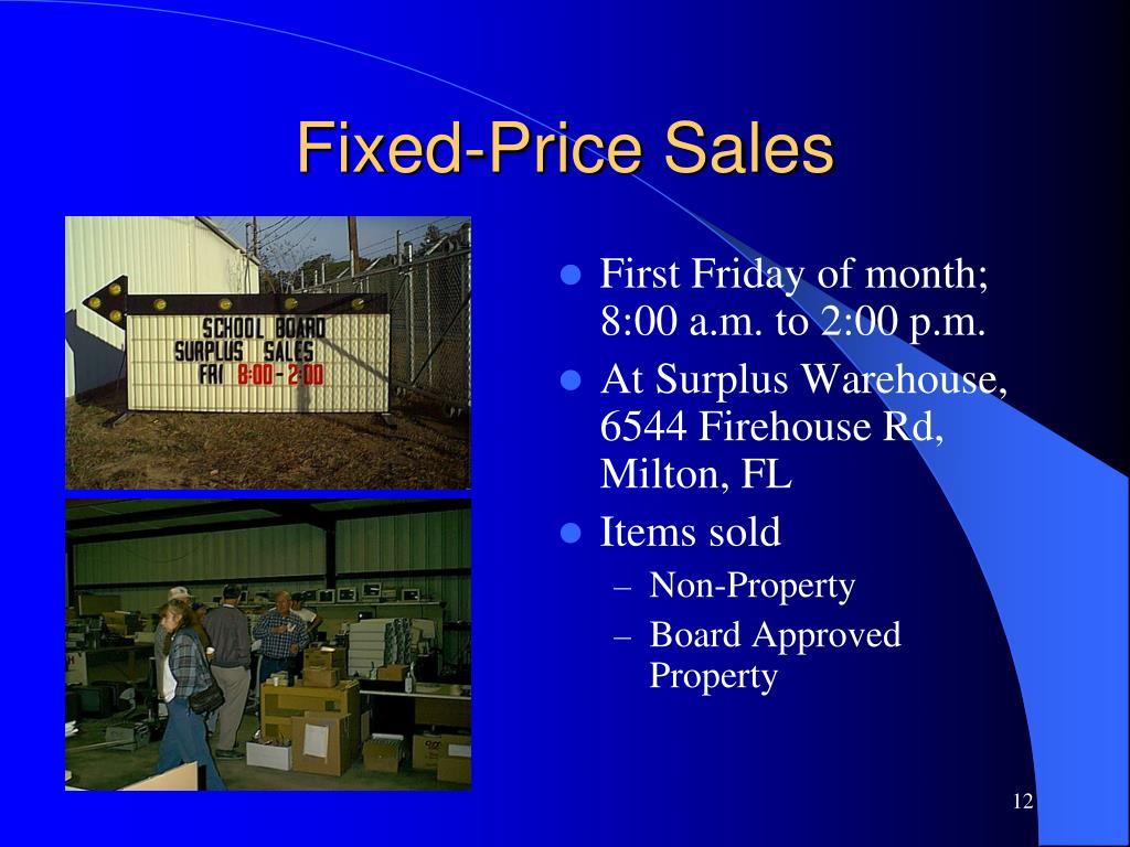 Fixed-Price Sales