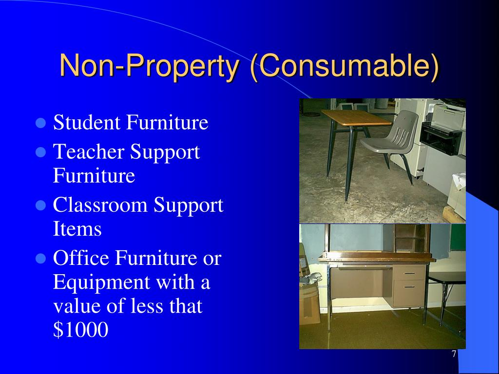 Non-Property (Consumable)