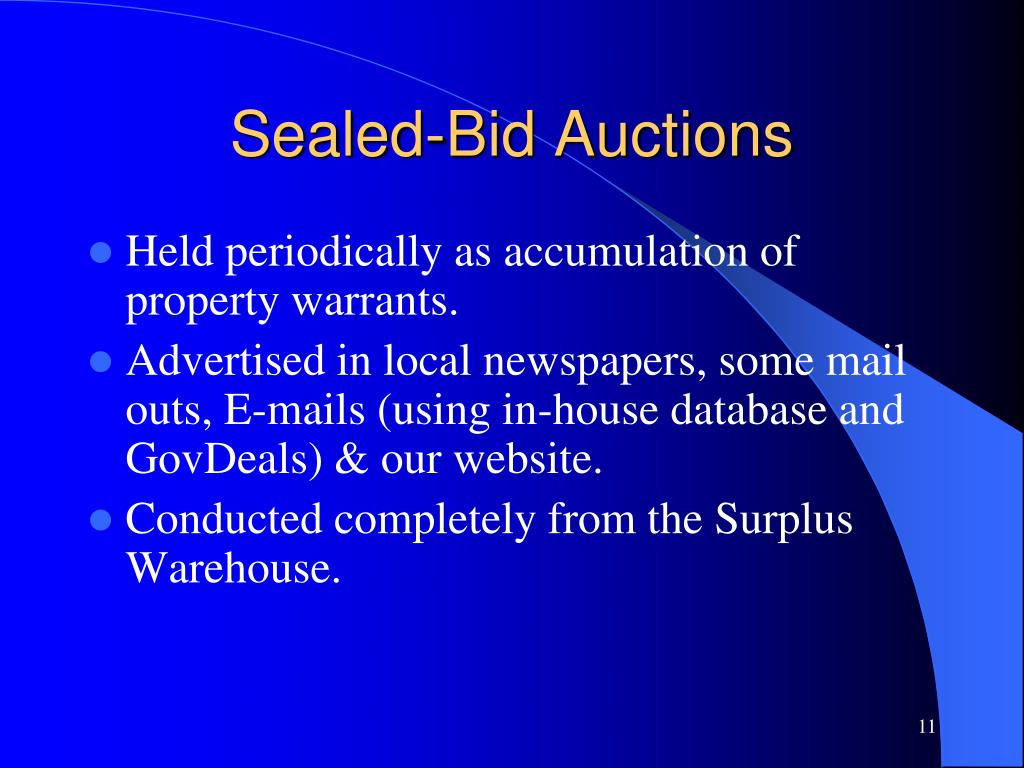 Sealed-Bid Auctions