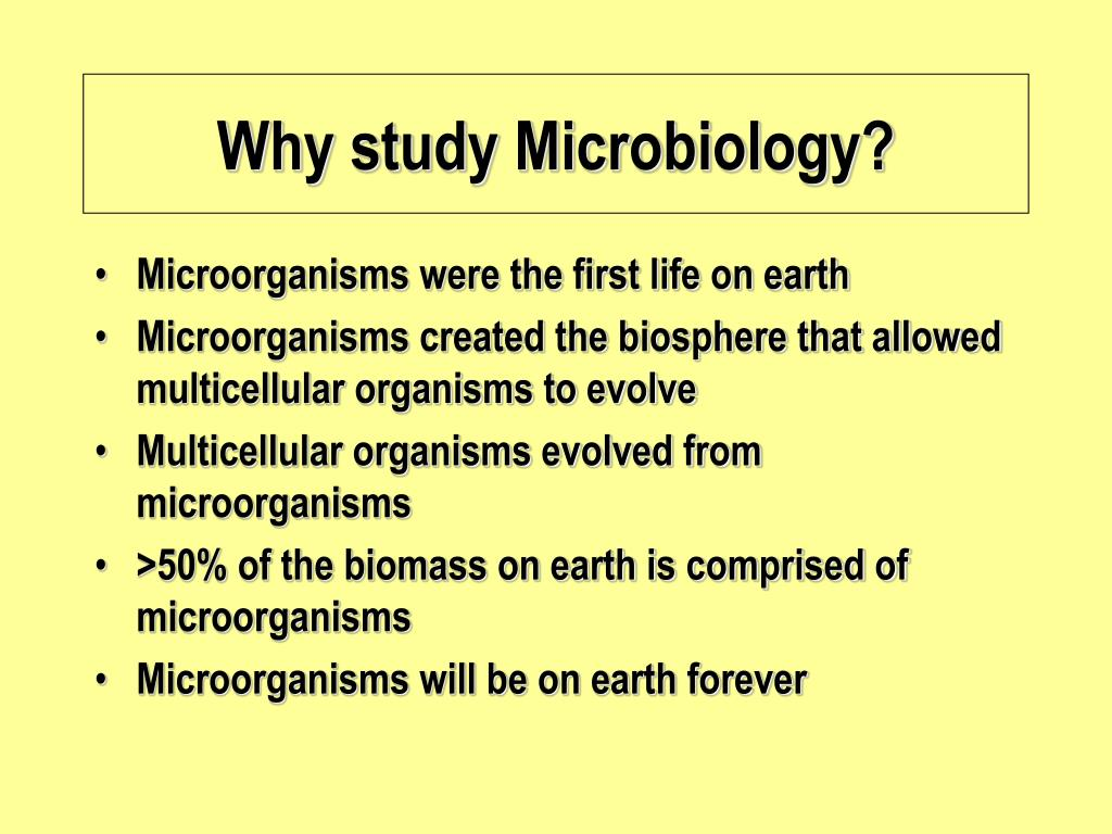 Why study Microbiology?