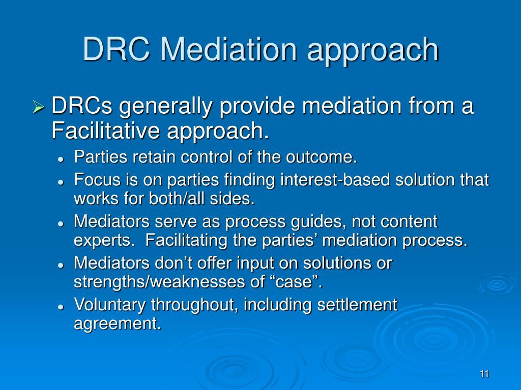 DRC Mediation approach
