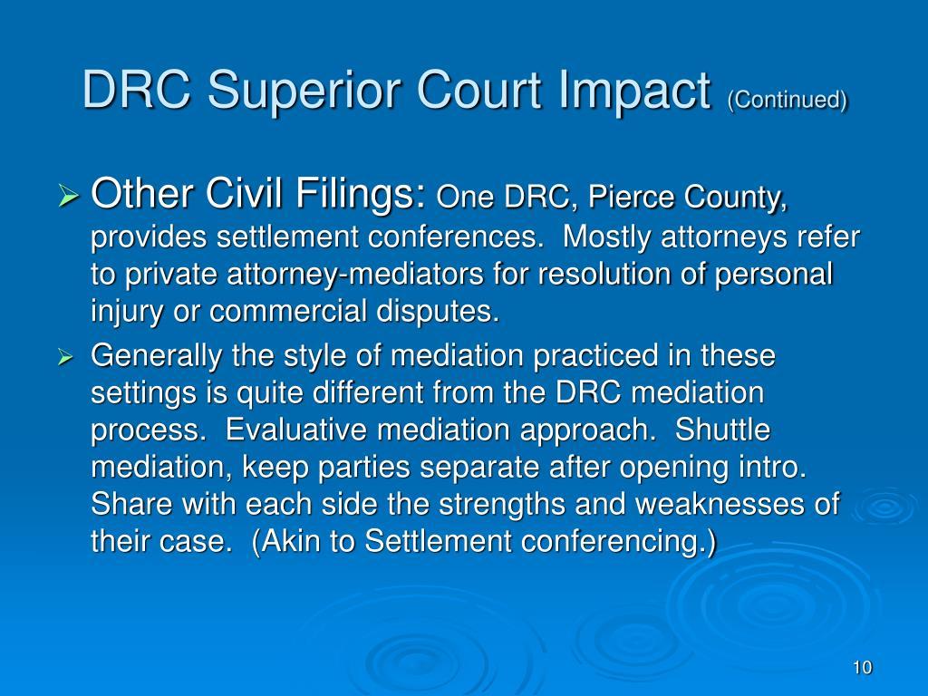 DRC Superior Court Impact