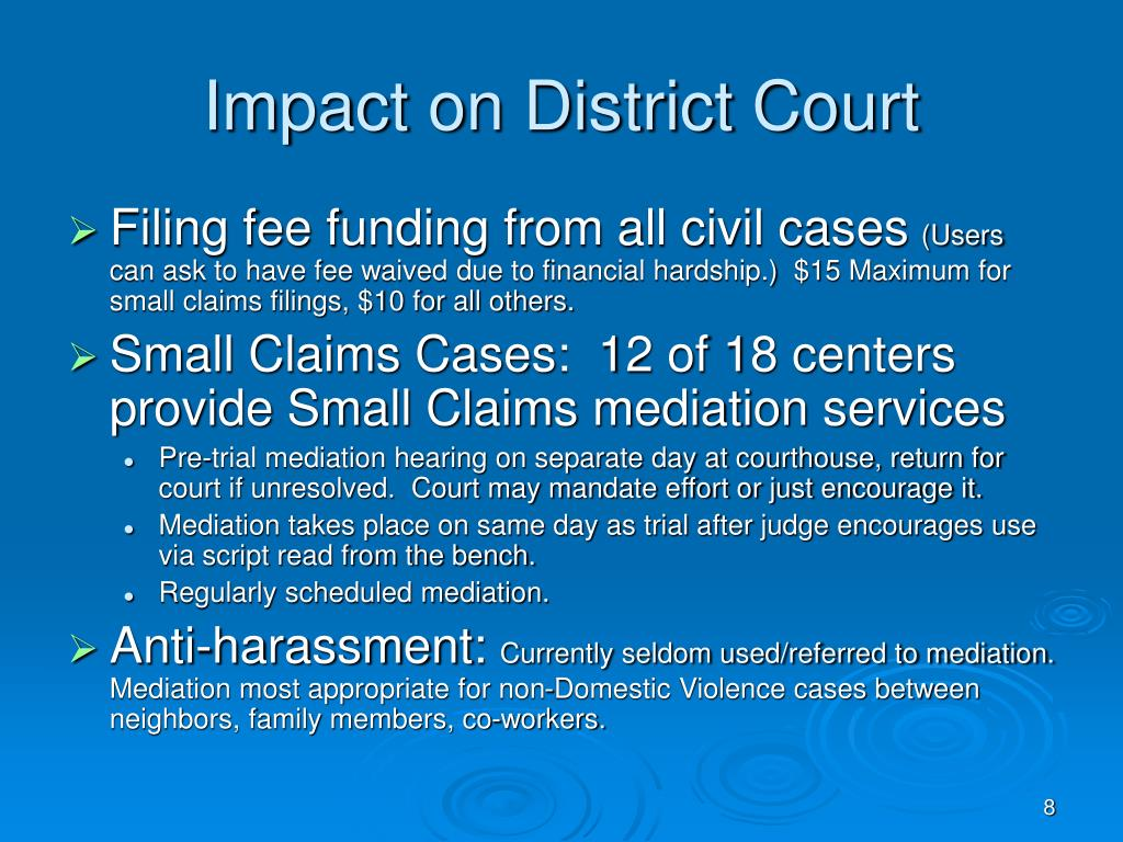 Impact on District Court