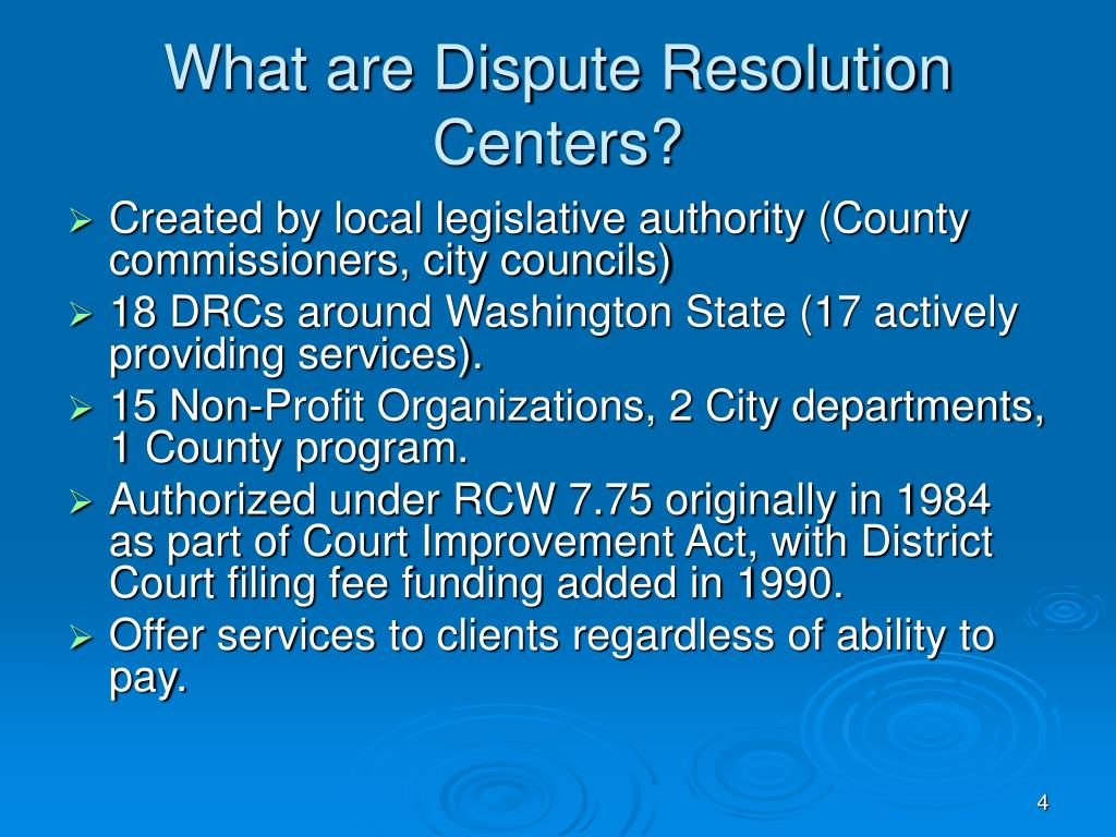What are Dispute Resolution Centers?