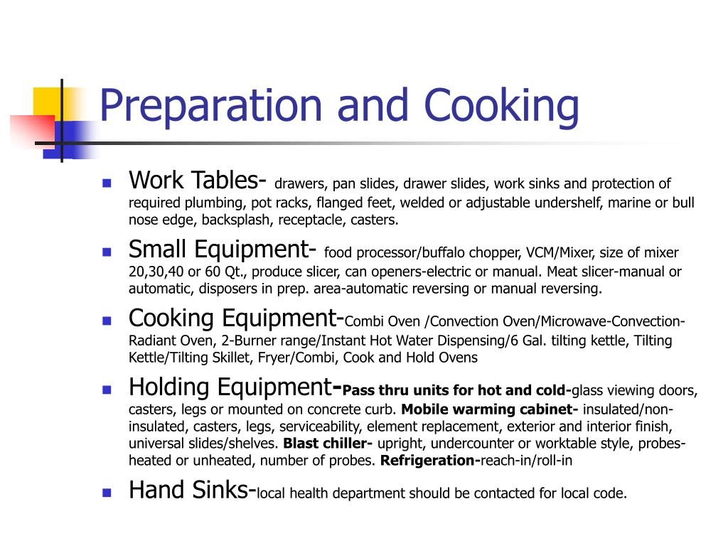 Preparation and Cooking