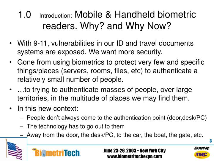 1 0 introduction mobile handheld biometric readers why and why now