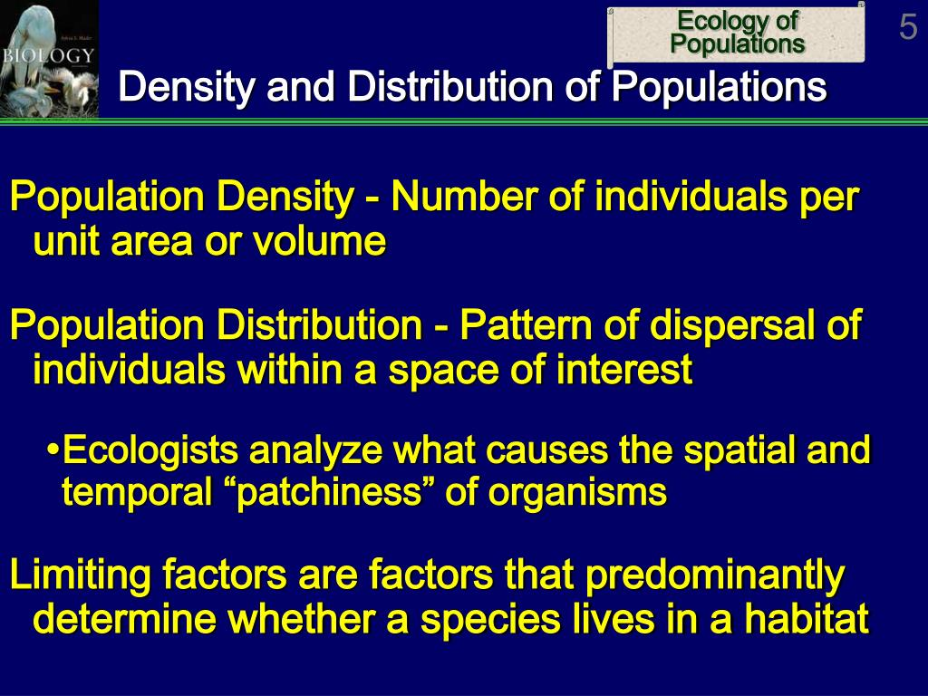 Density and Distribution of Populations