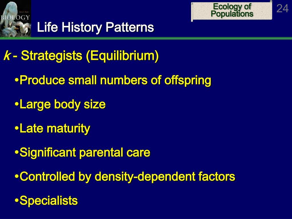 Life History Patterns