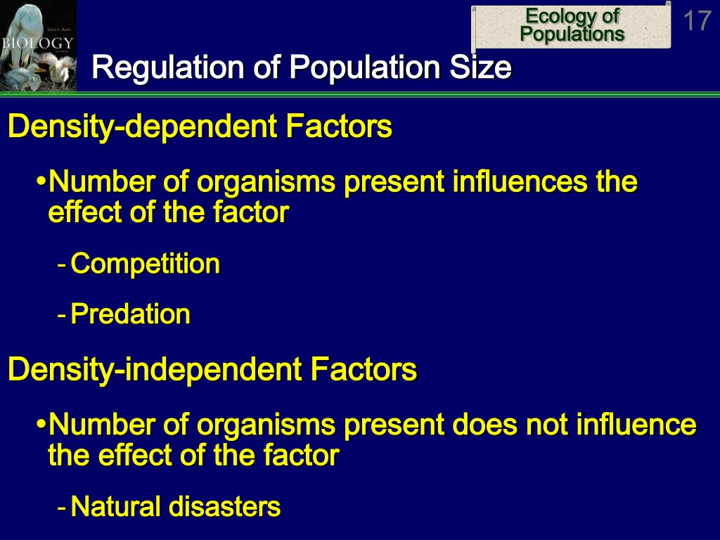 Regulation of Population Size