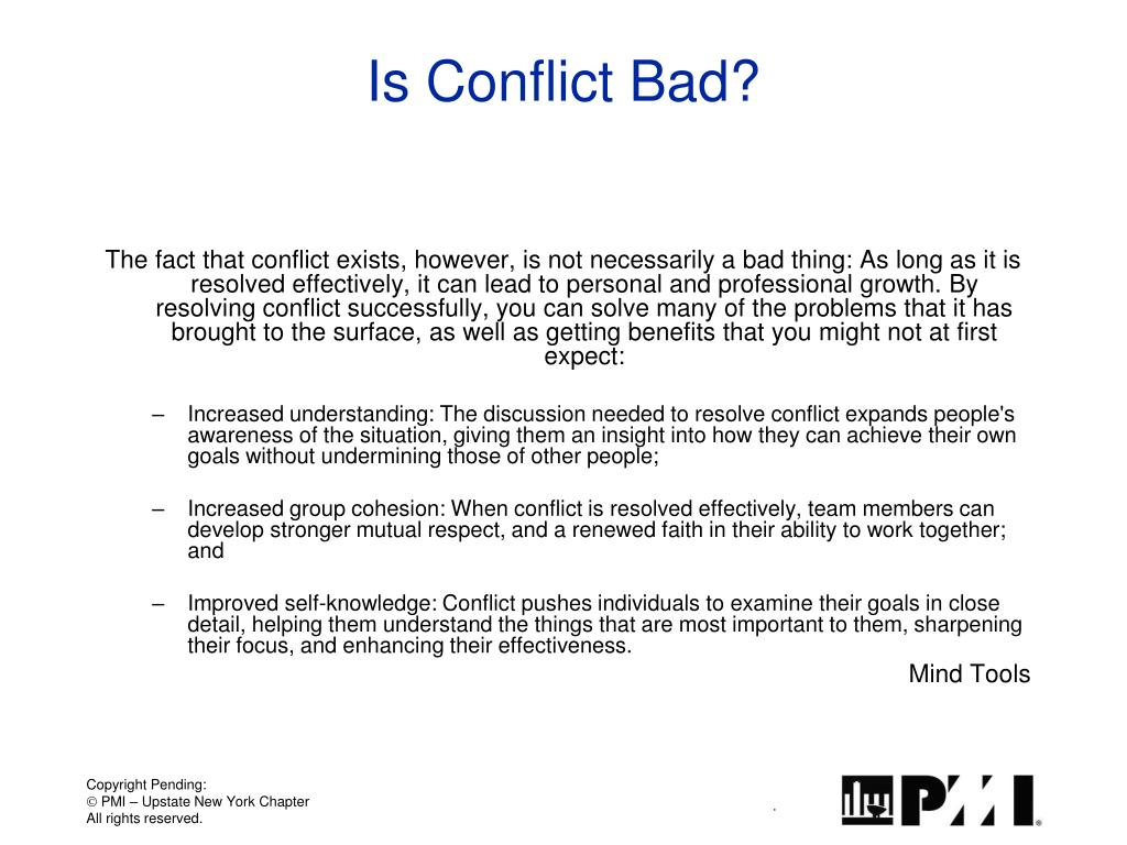 Is Conflict Bad?