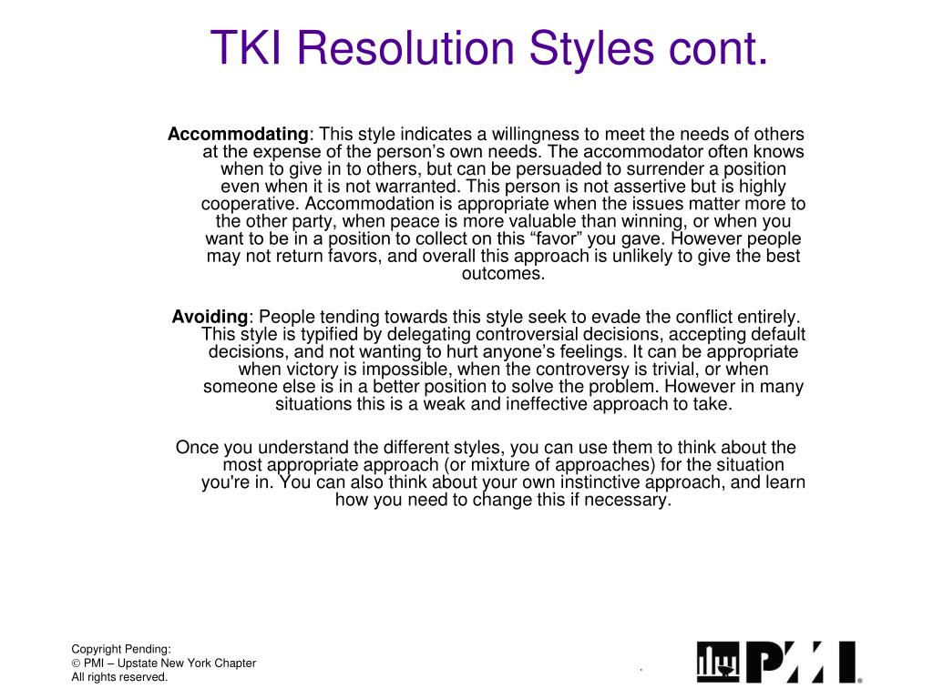 TKI Resolution Styles cont.