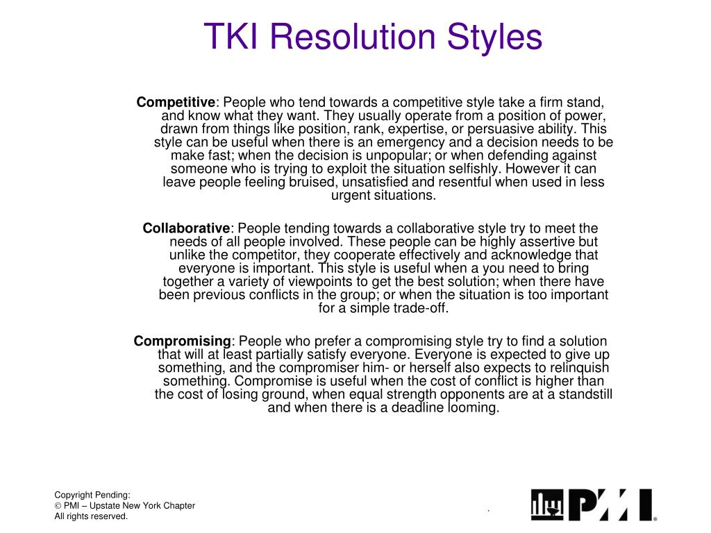 TKI Resolution Styles