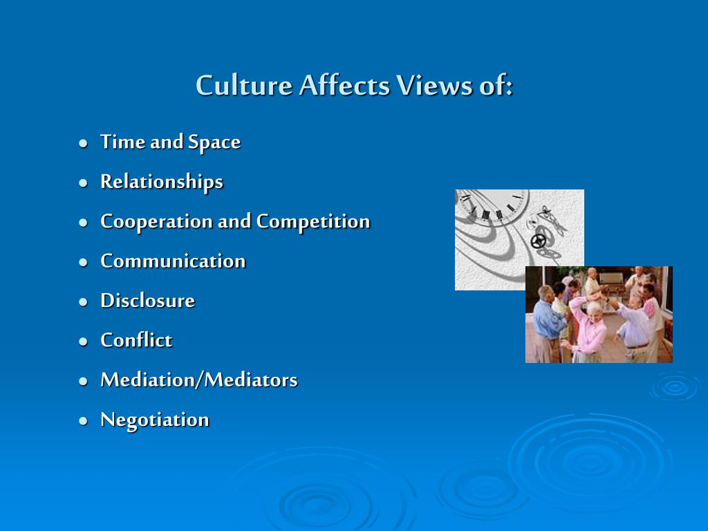 Culture Affects Views of: