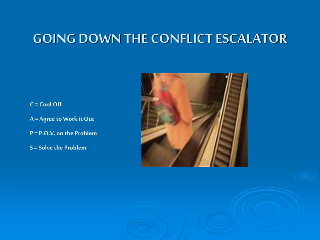 GOING DOWN THE CONFLICT ESCALATOR
