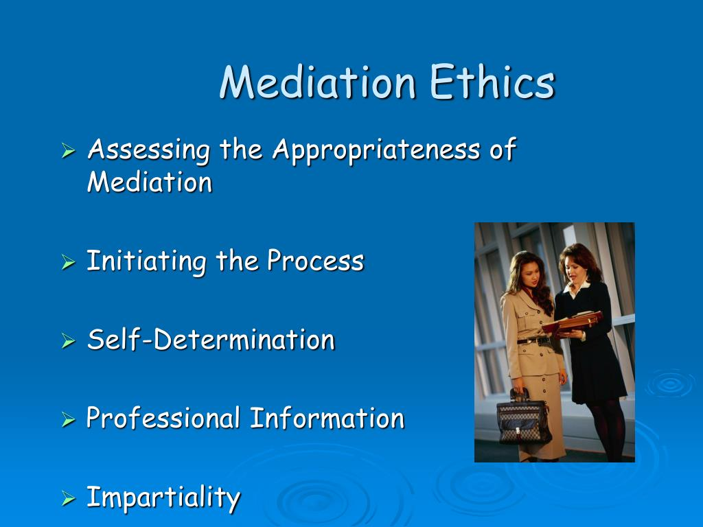 Assessing the Appropriateness of Mediation