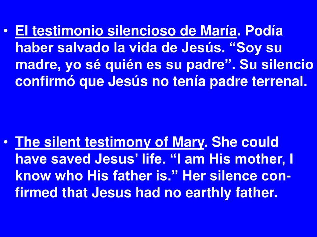 El testimonio silencioso de María