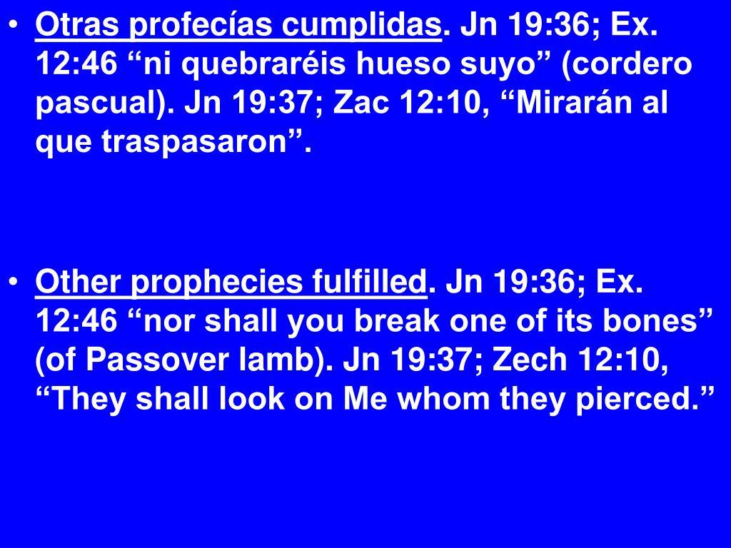 Otras profecías cumplidas