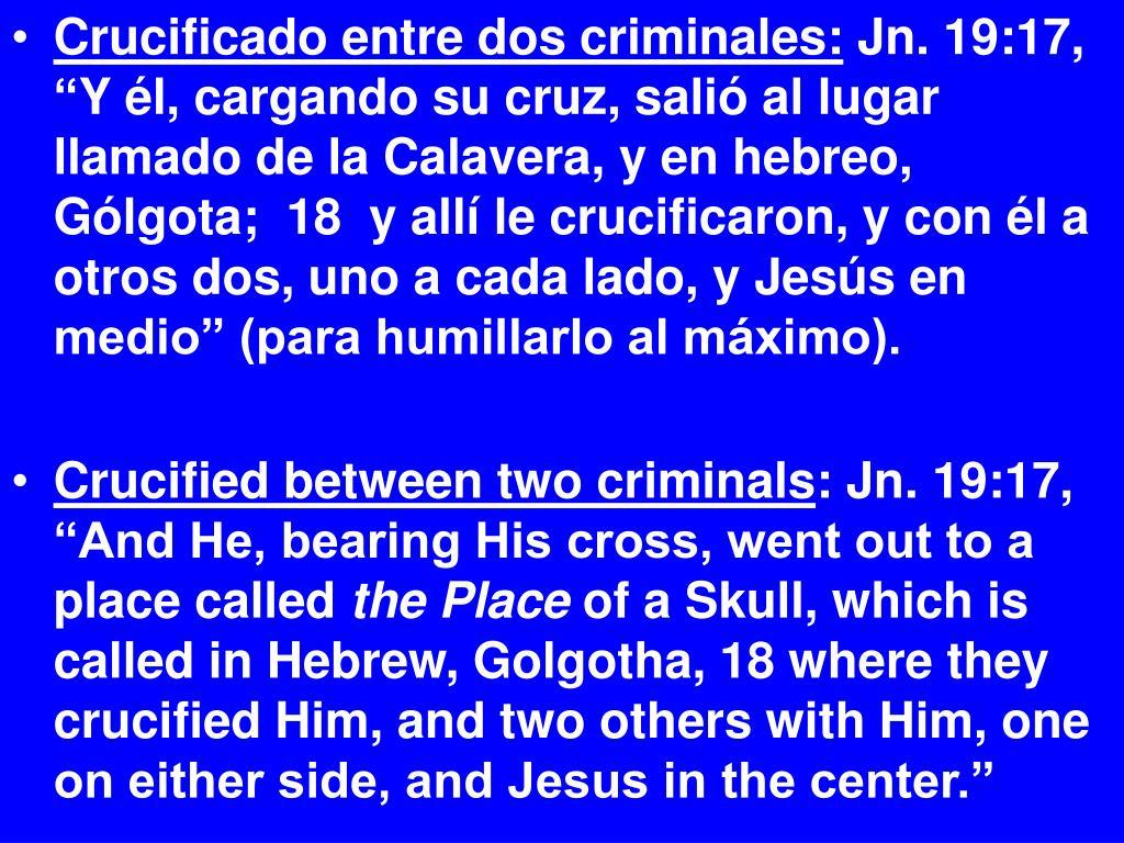 Crucificado entre dos criminales: