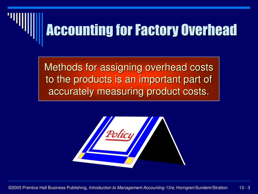 accounting for overheads The term overhead can be defined as the production cost other than direct cost,   koirala, madhav etal, principles of accounting -xii, buddha prakashan,.
