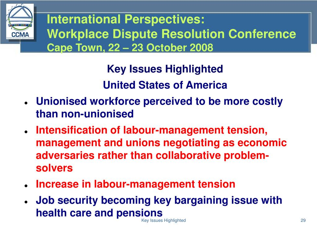 Key Issues Highlighted