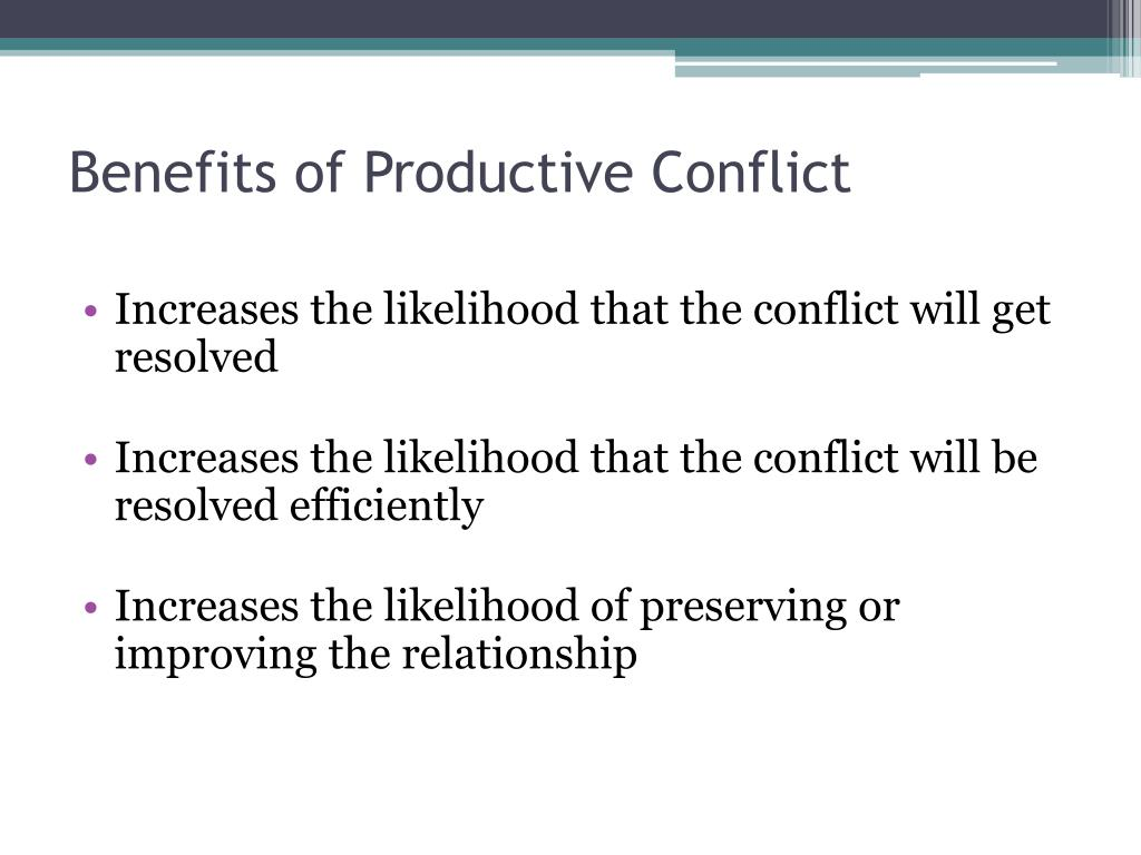 Benefits of Productive Conflict
